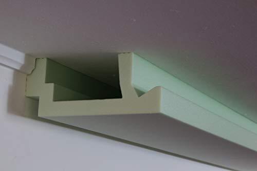 Moderne led-stuclijst - lichtprofiel voor indirecte verlichting van muur en plafond van hardschuim WDML-200A-ST van Bendu