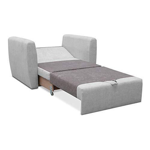 mb-moebel Sofa Sessel mit Schlaffunktion Schlafsessel Gästebett Klappsofa Bettfunktion mit Bettkasten Couch Sofagarnitur Salon Jugendzimmer SARA (Cappuccino)