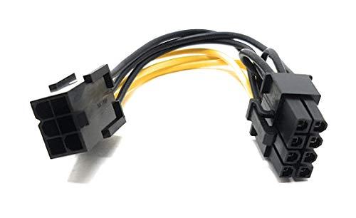 MainCore 10 cm PCI Express 6 Pin auf 8 Pin Power Adapter Kabel für Grafikkarte usw.