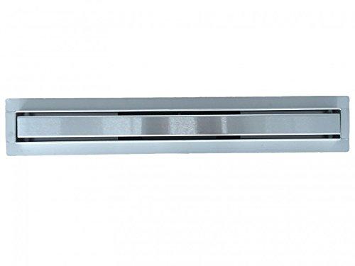 Edelstahl Duschrinne FlexGT02 für Duschkabine inkl. Edelstahl Ablaufblende - Länge wählbar, Länge Duschrinne:600mm