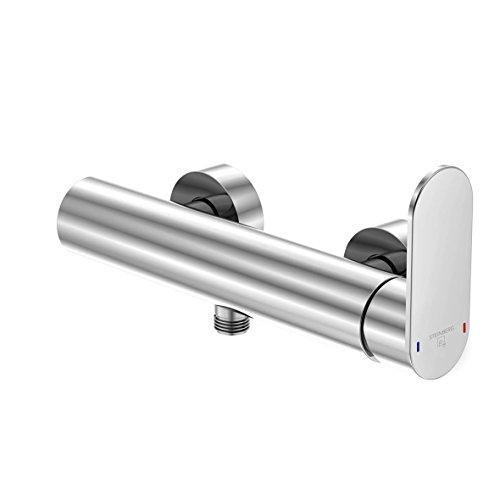 Steinberg 170 1220 Hochwertige Duscharmatur aus massivem Messing für Dusche oder Badewanne Brause-Einhebelmischer Aufputz, Chrom