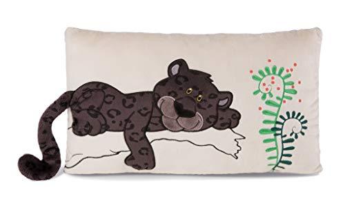 NICI 42933 Kissen Panther Jerome rechteckig, 43 x 25 cm, bunt