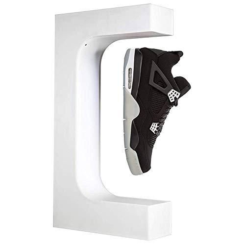MKULOUS Expositor De Zapatos De Levitante Magnético Flotante De Moda, Exhibición Elegante De Los Zapatos para Escaparates, Color Blanco