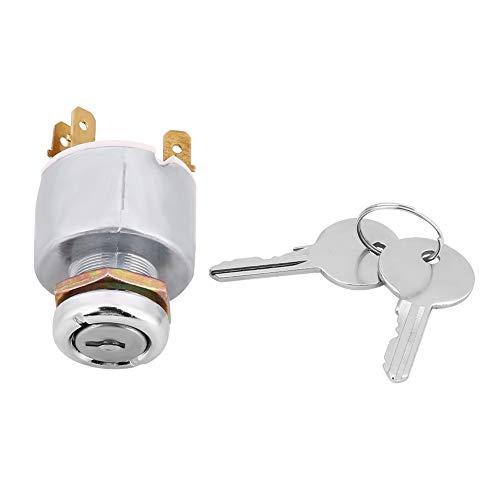 Interruptor Arranque Moto,Interruptor de Encendido con 2 llaves Interruptor de arranque del motor SPB501 para la mayoría de los Automóviles motocicletas y embarcaciones Tractor