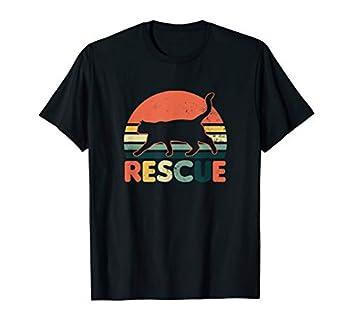 Cat Adoption Design Vintage Retro Sunset Rescue Gift T-Shirt