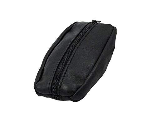 Lilosac® - Porte-Monnaie Homme - Grain de café - Double Compartiments - Cuir épais Souple résistant - pour Poches Pantalon ou Veste (Noir)