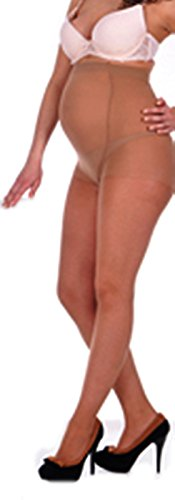 Unbekannt Super bequeme UMSTANDSSTRUMPFHOSE LYCRA GESCHMEIDIG 20 DEN FARBEN Schwangerschaft (XL - XXL, Beige/Visone)