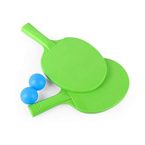 TOHOYOK Juego de Raqueta de Tenis de Mesa niños, la práctica Ritmo de Ping Pong Juego de la Raqueta Horizontal, Raqueta de Entrenamiento for Principiantes Padre-Hijo (Color : Green)