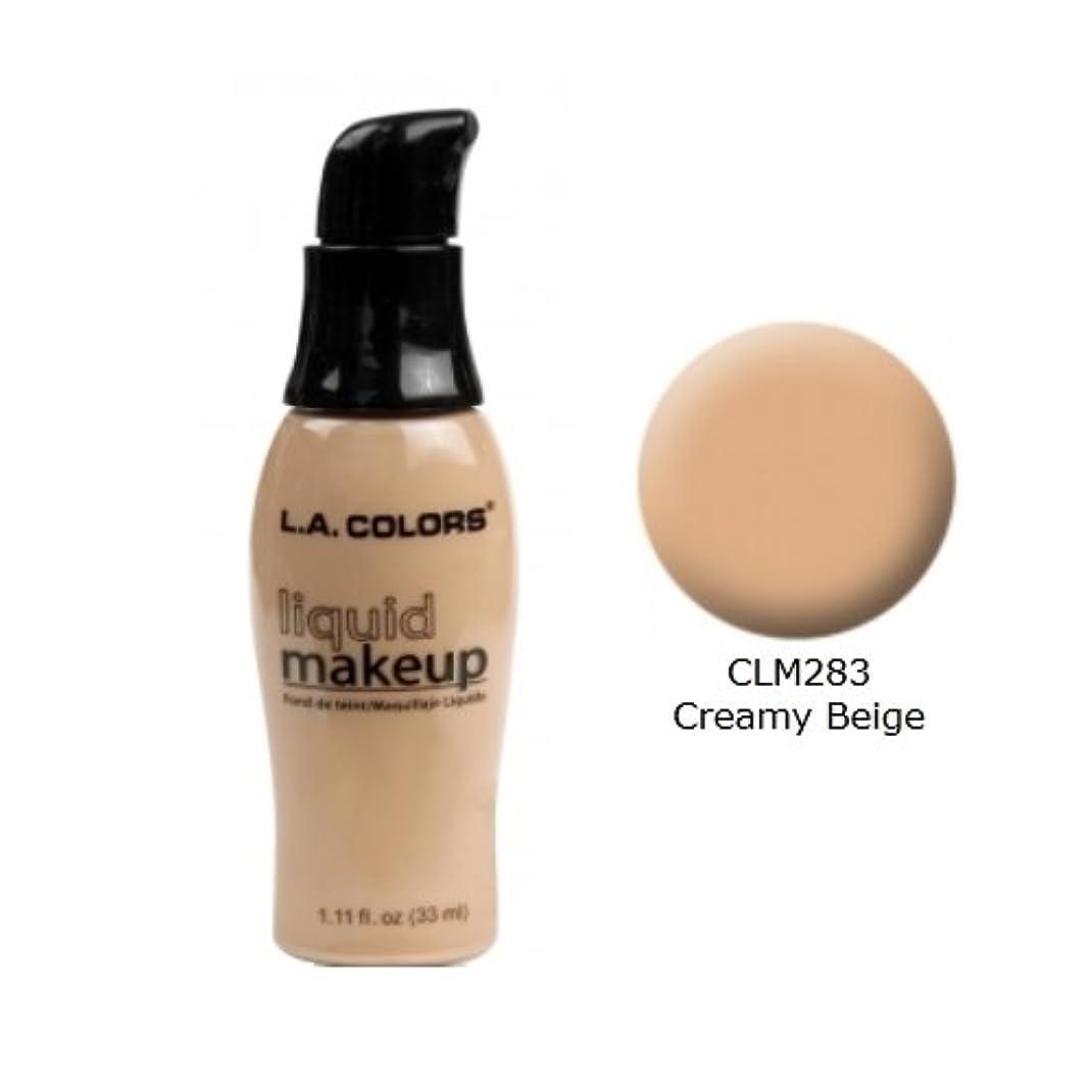 好む混雑相互(3 Pack) LA COLORS Liquid Makeup - Creamy Beige (並行輸入品)