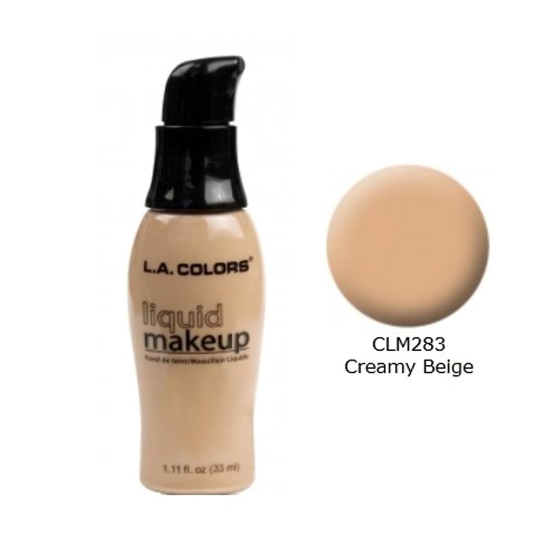 詩人裏切り教(3 Pack) LA COLORS Liquid Makeup - Creamy Beige (並行輸入品)