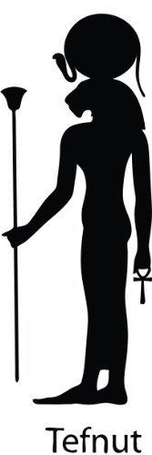 Tefnut Egyp Dio egiziano Dio adesivi, vinile auto-adesivo, finestra, salotti, camere da letto, altezza 20 cm, colore: nero o 20,32 (8 ThatVinylPlace cm