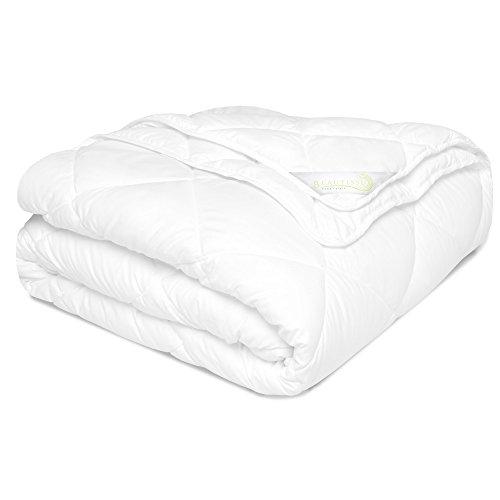 Beautissu Echte 4 Jahreszeiten Bettdecke 135x200 cm - BeauNuit JD - große Zudecke aus 2 Steppdecken – Winter Sommer Decke mit Knöpfen ÖKO-Tex