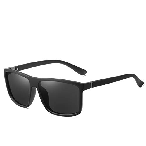 Gafas De Sol para Hombre Gafas De Sol Polarizadas Al Aire Libre Gafas De Sol Zhenzhiyangshangmao (Size : Elastic Black Frame Ash)