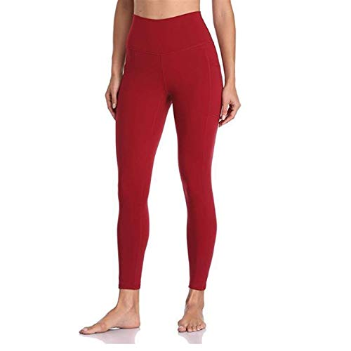WUCHENG High Waist Legging Tasche Bauch-Steuer Yoga Hose for Frau Camo Printed Fitness Legging Workout Ultra Stretch Jogginghose Gamaschen (Color : Red, Size : XL)