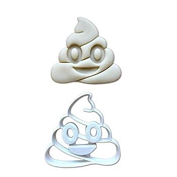 Sweet Prints Inc Poop Emoji Cookie Cutter - Dishwasher Safe