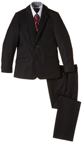 G.O.L. Jungen Bekleidungsset 4-tlg. Anzug, bestehend aus Sakko, Hose, Hemd, Krawatte, Gr. 158, Schwarz (black 2)