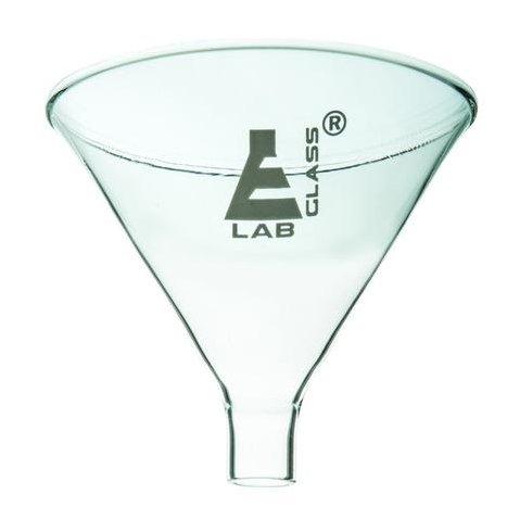 85mm Powder Funnel Short Stem Borosilicate Glass Plain 60 Degree Angle - Eisco Labs