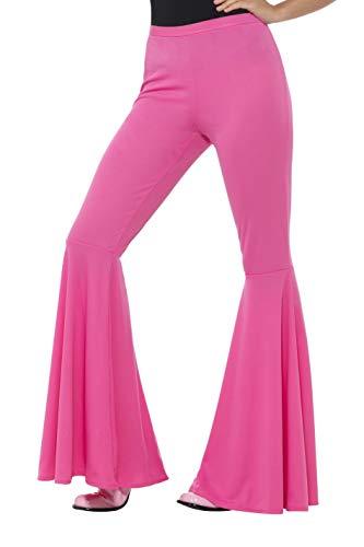 Smiffys Damen Schlaghose, Größe: 36-42, Pink, 21464