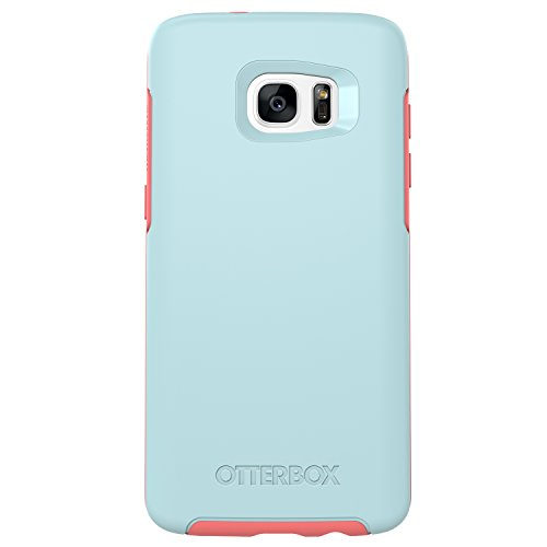 OtterBox Symmetry Series Schutzhülle für Samsung Galaxy S7 Edge, Boardwalk (Bahama Blue/Candy PINK), XL