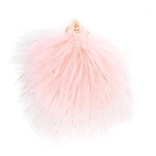 MLOPPTE Llavero,Bola de imitación flor llaveros anillos soporte bolsa colgante llaveros llaveros para coche para mujer rosa