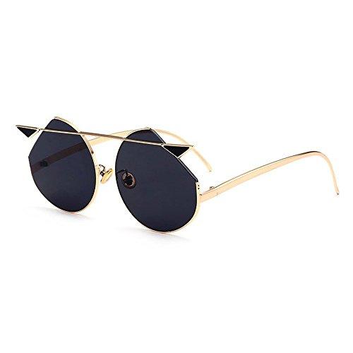 Belleashy Gafas de sol para mujer, estilo vintage, polarizadas 100% protección UV, para conducir, ciclismo, correr, pesca, golf, uso diario (color: negro)