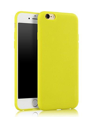 Demarkt Carcasa para iPhone 7 de silicona TPU amarillo