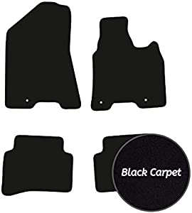Premier Products Fully Tailored Black Carpet Car Mats for Sportage  2016-2018  Eyelet Fixing