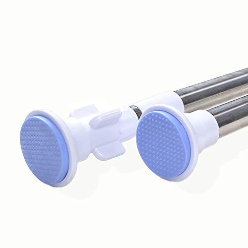 SXYMX 160-300cm verstelbare telescoopstang gordijnroede zonder boren van roestvrij staal douchegordijnroede schuifgordijnen deurgordijnen