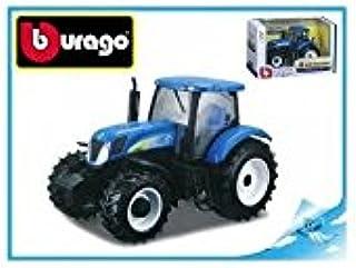 Burago Tractor Escala 1/32 Azul