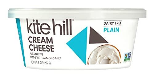Kite Hill Dairy Free Cream Cheese Style Spread, Plain, 8 oz