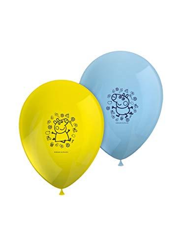 ALMACENESADAN 2670; Pack 8 Globos Peppa Pig; Ideal para Decorar Fiestas y cumpleaños.