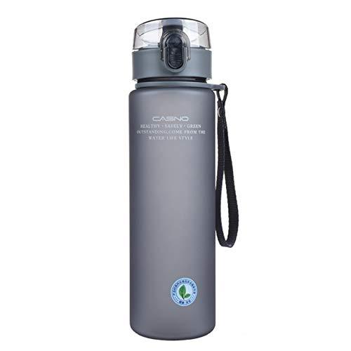 Mdsfe 400ml 560ml tragbare auslaufsichere Wasserflasche hochwertige Reise Outdoor-Fahrrad Sport Trinkwasser Plastikflasche - 400ml, grün
