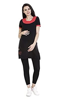 GOLDSTROMS Super Long Maternity/Feeding Tee with Vertical Zipper and Side Pocket