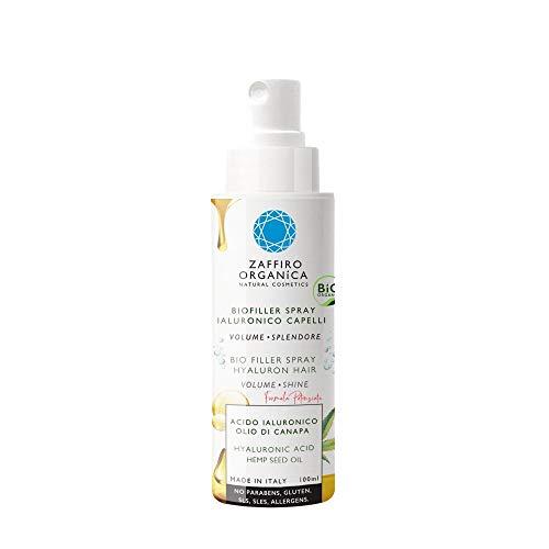 Zaffiro Organica Spray BIO FILLER para cabello con Ácido Hialurónico Proteínas de Seda Queratina vegetal • Volumen✓ Desenredante✓ Hidratante ✓ Protector térmico Sin Sulfato Ni Parabenos 100ml