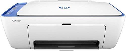 HP Deskjet 2630 – Impresora multifunción inalámbrica (Tinta, Wi-Fi, copiar, escanear, 600 x 300 PPP, Incluido 3 Meses de HP Instant Ink) Color Blanco y Azul