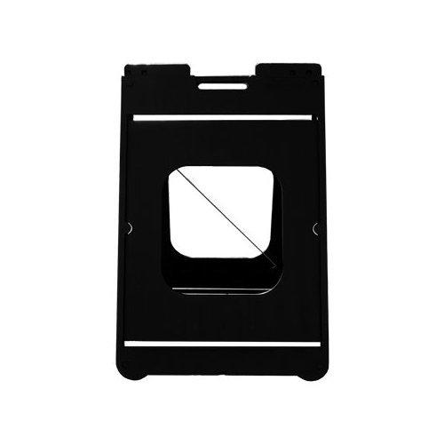 Simpo Sign II w/Rider - Black -  Plasticade, SD-Simpo-1225-BK