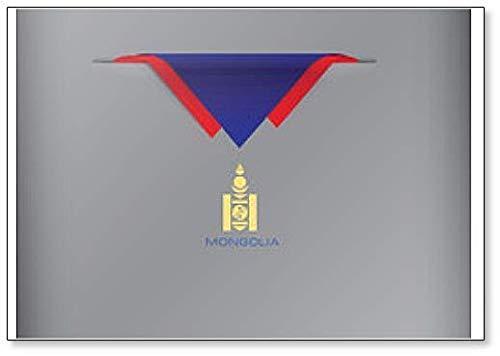 Kühlschrankmagnet mit Stilisierter Mongolei Flagge