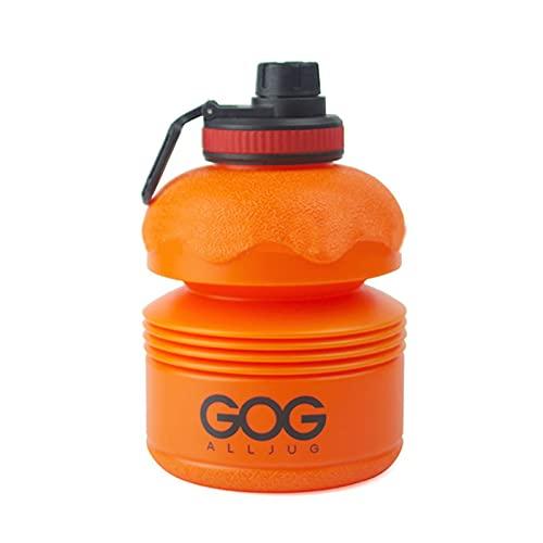 Yusea Botella de agua plegable reutilizable de silicona plegable para viajes, gimnasio, camping, senderismo, portátil, a prueba de fugas, 74 oz