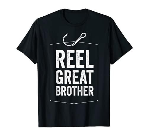 Hombre Carrete de gran hermano divertido pesca hermano regalo para pescador Camiseta