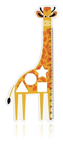 npw Neuheit Lineal Schablone Set–Giraffe Lineal Jungle Pals