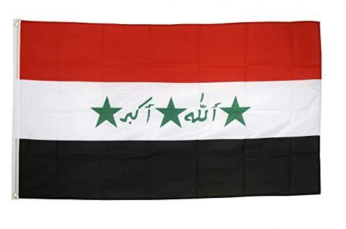 Flaggenfritze Fahne/Flagge Irak alt 1991-2004 + gratis Sticker