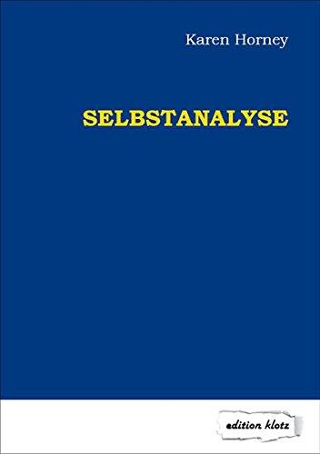 Selbstanalyse (Edition Klotz)