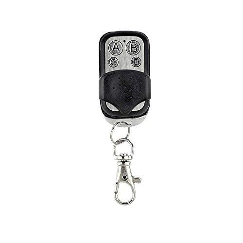 Fesjoy Smart 433 MHz RF mando a distancia con 4 botones, inalámbrico, compatible con interruptor de luz LED de pared para garaje, mando a distancia, llavero 1 pieza.