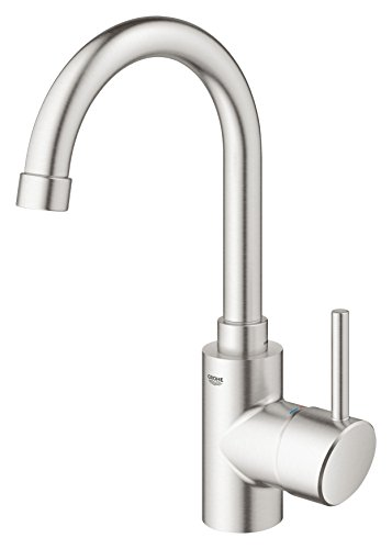 Read About Grohe 31518DC0 Concetto Single-Handle Kitchen Faucet, 1.5 GPM, SuperSteel InfinityFinish
