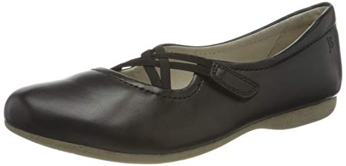Josef Seibel Damen Riemchenballerinas Fiona 39,Weite G (Normal),weiblich,Lady,Ladies,Women's,Woman,Flats,Halbschuhe,Slipper,schwarz,41 EU / 7 UK