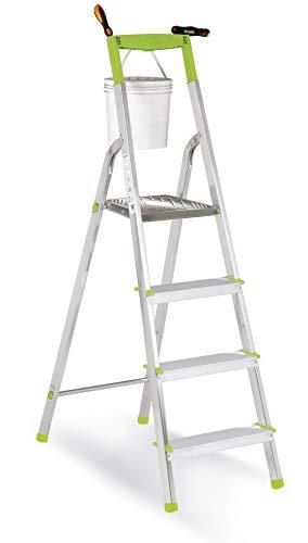 Casabriko - Escalera doméstica de Aluminio, Verde, Verde, 11034