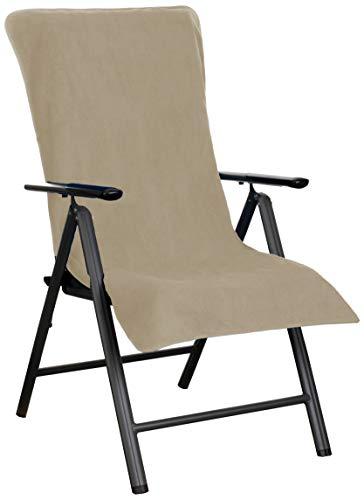 Brandsseller - Funda protectora de rizo para sillas de jardín, así como para tumbona de playa, 100% algodón, color gris