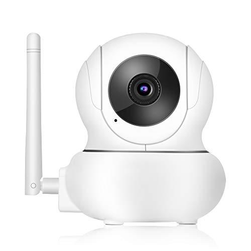 Cámara inteligente inalámbrica WIFI, 1080P HD PTZ Cámara domo de vigilancia con monitor de seguimiento facial + 355 ° de rotación + Zoom 3X + Compatibilidad con el protocolo ONVIF(EU)