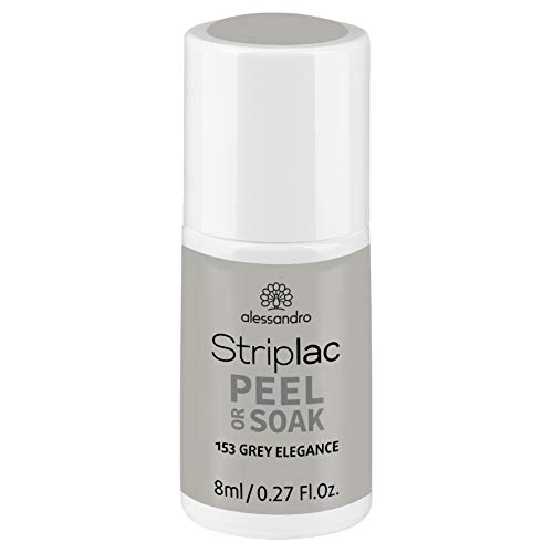 alessandro Striplac Peel or Soak Grey Elegance - LED-Nagellack in Grau - Für perfekte Nägel in 15 Minuten, 8 ml