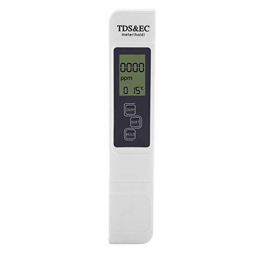 Garosa Probador de Calidad del Agua 3 en 1 Medidor de Temperatura TDS Probador de Prueba de pureza del Agua Potable Piscinas Acuarios Hidroponía Industria pesquera